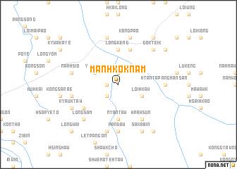 map of Mān Hkoknam
