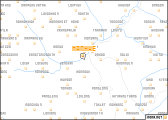 map of Manhwe