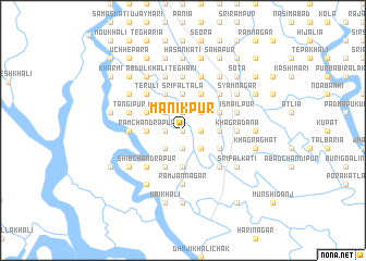 map of Mānikpur
