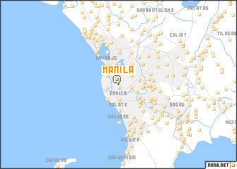 Manila (Philippines) map - nona.net