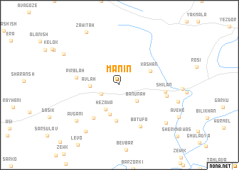 map of Manīn