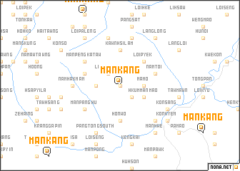 map of Mánkáng