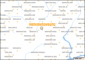 map of Mān Kawnghsung