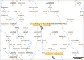 map of Mān Kyawng