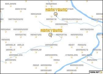 map of Mān Kyawng