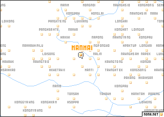 map of Mānmai