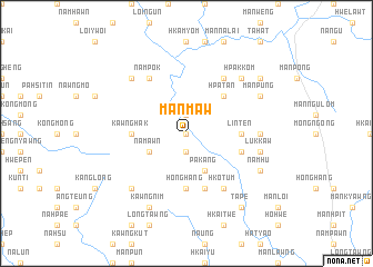 map of Mān Maw