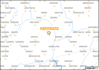 map of Mān Nawng