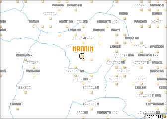 map of Mānnim
