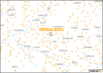 map of Manojlovići