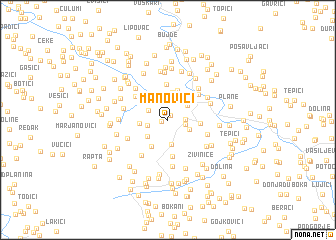 map of Manovići