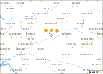 map of Mān Ping