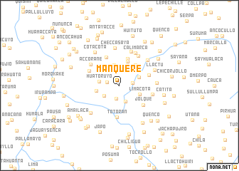 map of Manquere