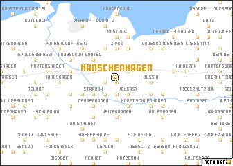 map of Manschenhagen