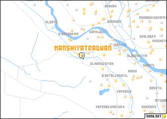 map of Manshīyat Raḑwān