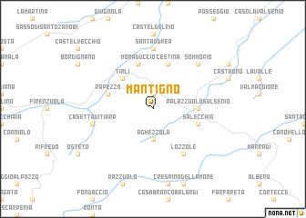 map of Mantigno