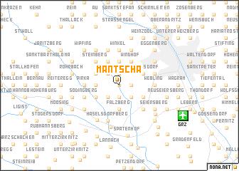 map of Mantscha