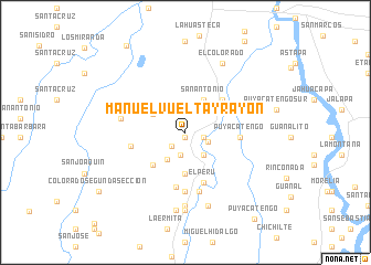 map of Manuel Vuelta y Rayón