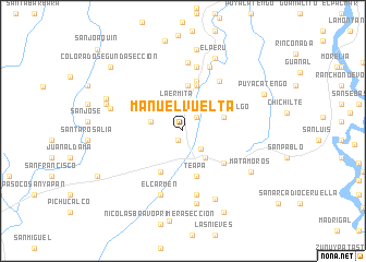 map of Manuel Vuelta