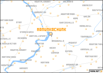 map of Manunka Chunk