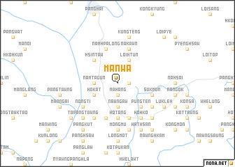 map of Mānwa