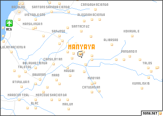 map of Manyaya