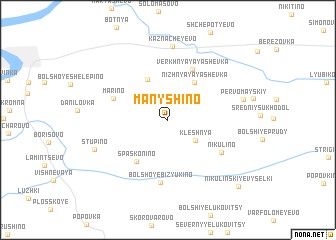 map of Manyshino