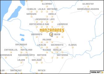 map of Manzanares