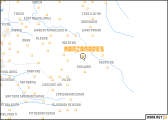 map of Manzanares