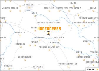 map of Manzaneres