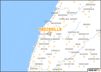 map of Manzanilla