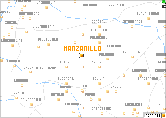 map of Manzanillo
