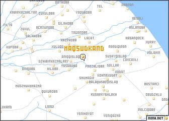 map of Maqsudkǝnd