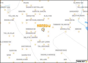 map of Marādij