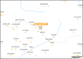 map of Maradwa