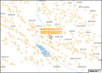 map of Marasovići