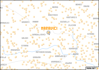 map of Maravići