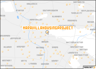 map of Maravilla Housing Project