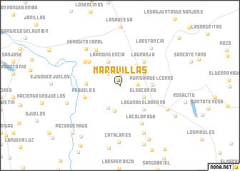 map of Maravillas