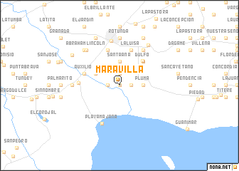 map of Maravilla
