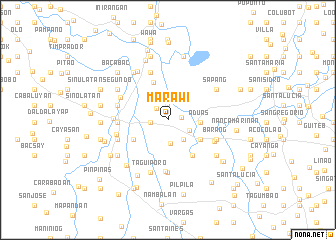 map of Marawi