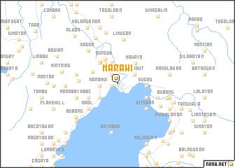 Marawi (Philippines) map   nona.net