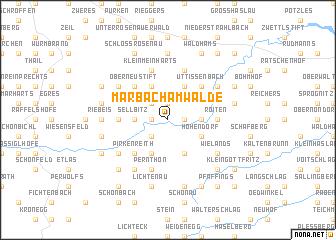 map of Marbach am Walde