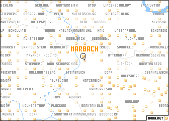 map of Marbach