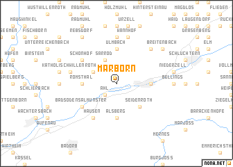 map of Marborn