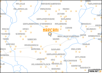 map of Marčani