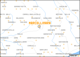 map of Marcellinara