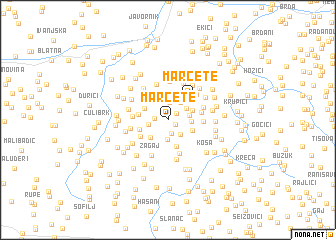 map of Marčete