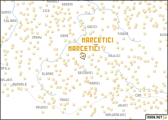 map of Marčetići
