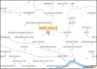 map of Marchegg